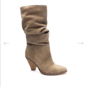 Chinese laundry Stella suede booties 6.5